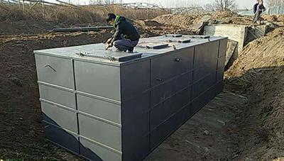 污水一体设备安装现场